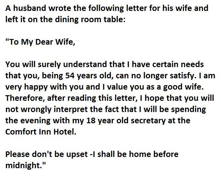 Writing a letter to my cheating husband
