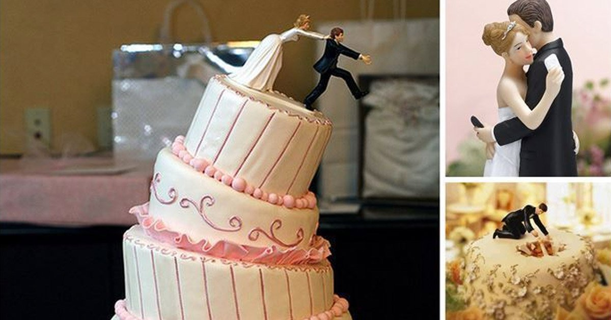 17 Of The Funniest Wedding Toppers Ever