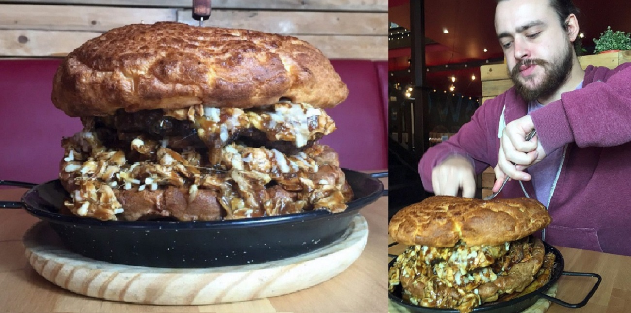 Can You Handle This Epic Yorkshire Pudding Burger?
