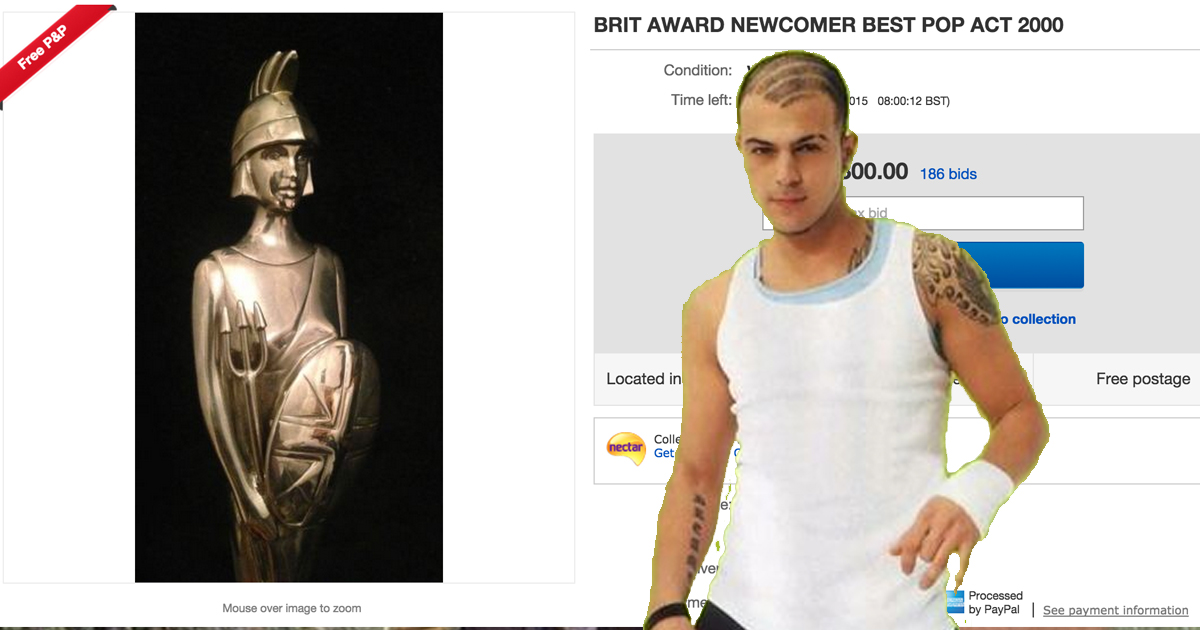 Abs Love From Five Is Selling His Brit Award And The Bids Have Gone CRAZY