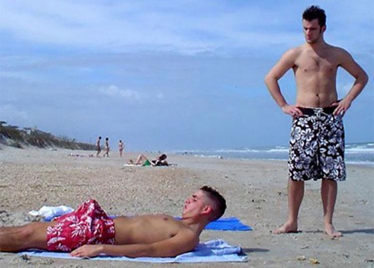 erection beach embarrassed