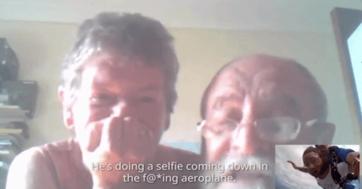 Man Skypes Parents As He Jumps Out Of a Plane