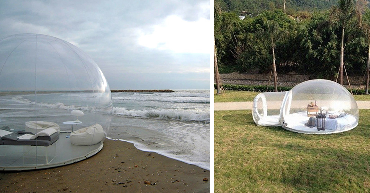 This Giant Clear Bubble Tent Lets You Sleep Underneath The Stars & Giant Clear Bubble Tent Lets You Sleep Underneath The Stars