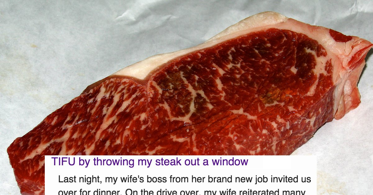 The Story Of An Undercooked Steak, A Dinner Party At Her Bosses House And An Idiot Husband