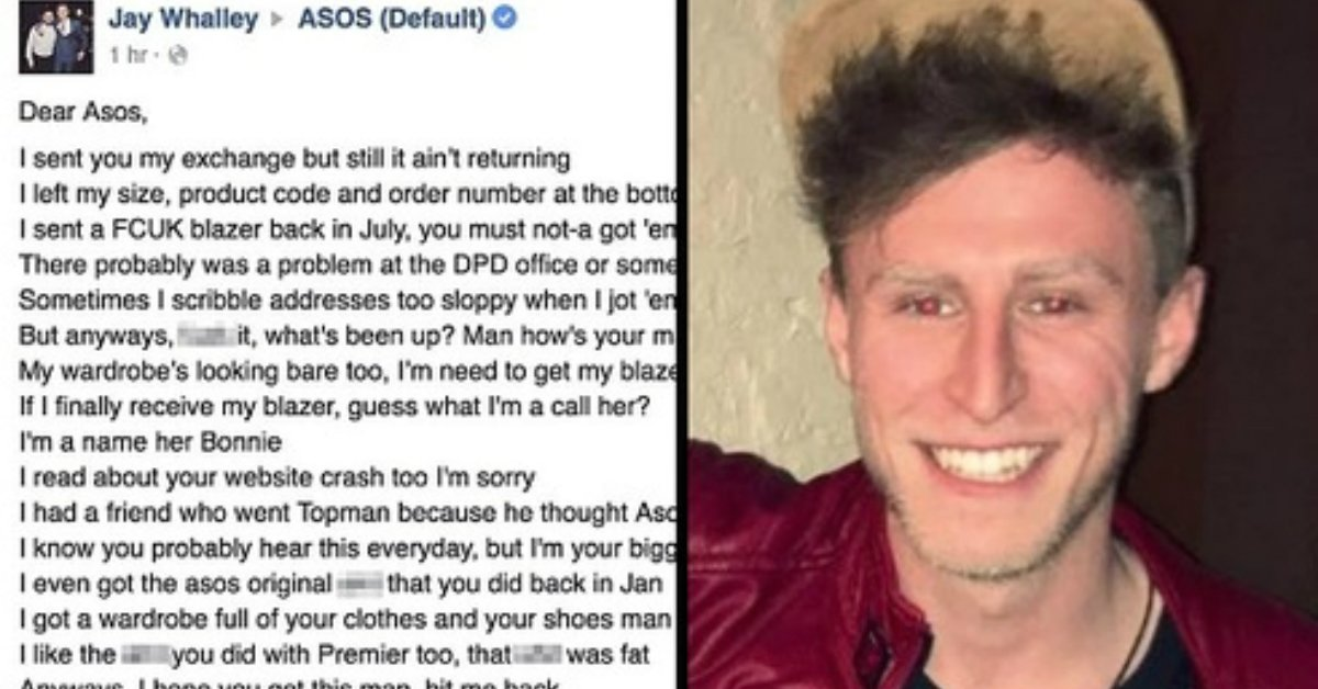 Guy Gets An Epic Reply After Complaining to ASOS Using Eminem Lyrics