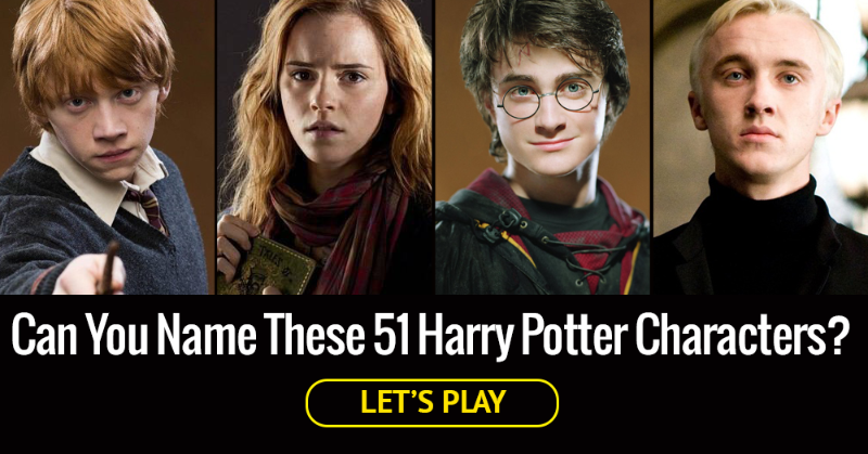 TEST YOURSELF: How Many Of These 51 Harry Potter Characters Can You Correctly Name?
