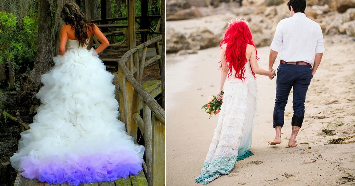 23 Gorgeous Dip-Dye Wedding Dresses