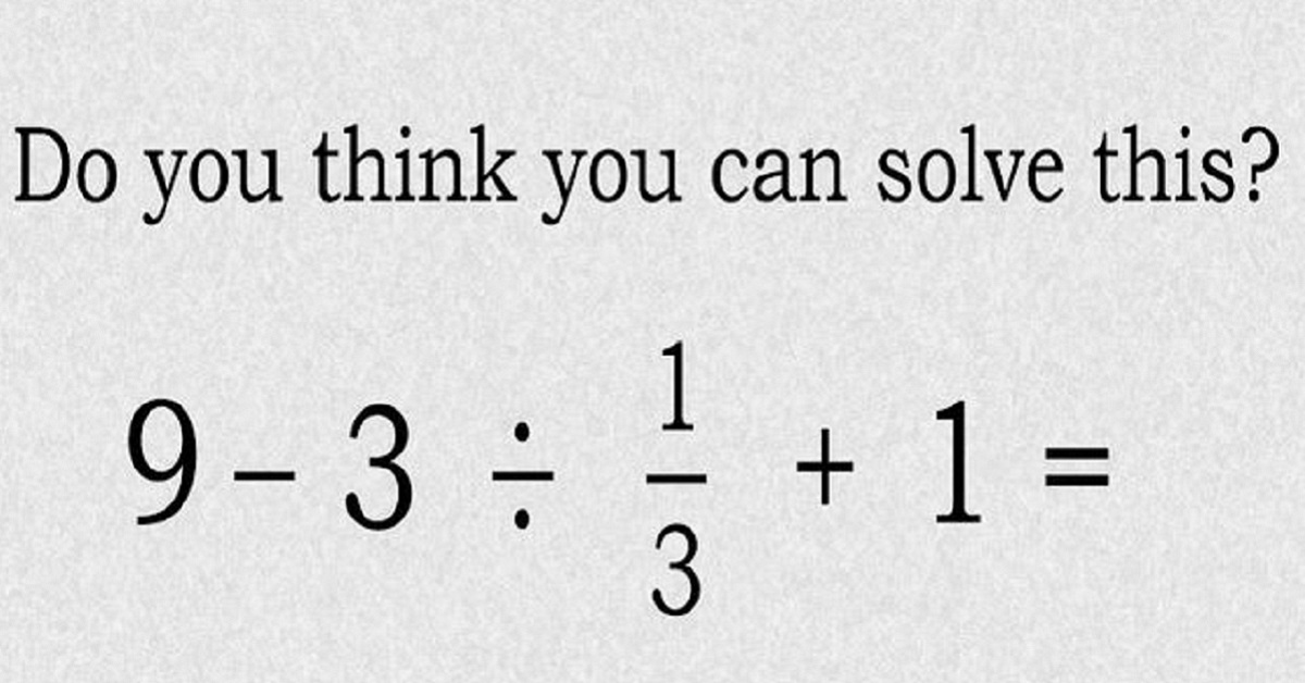 TEST: Can You Solve This Simple Primary School Maths Problem?