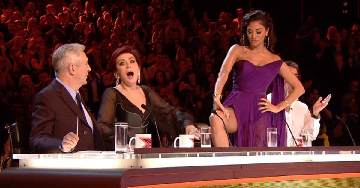 X Factor Judge Nicole Scherzinger Showed A Contestant Her Thigh And It Was Bizarre…