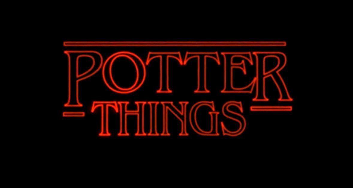 a stranger things and harry potter cross over. Black Bedroom Furniture Sets. Home Design Ideas