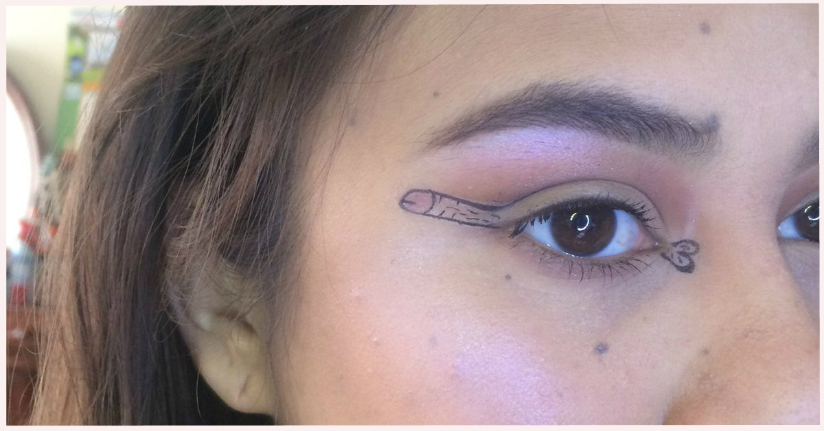 Dickliner: The Hottest Makeup Trend Where You Draw A Penis On Your Eyelids