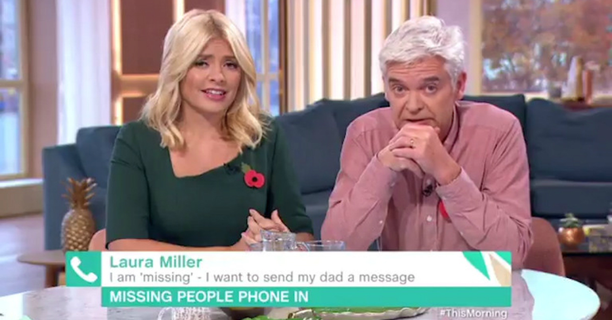 Holly Willoughby and Phillip Schofield Left In Tears After A Missing Woman Called This Morning