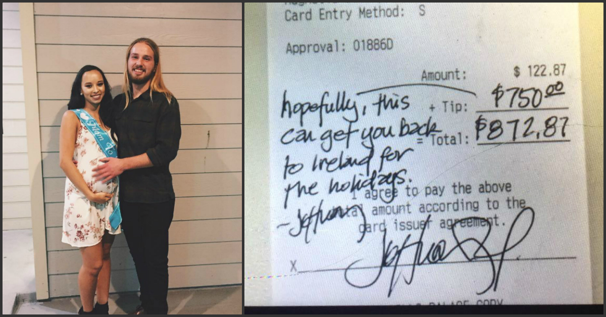 This Waiter Was Tipped £600 After A Customer Overheard His Christmas Plans