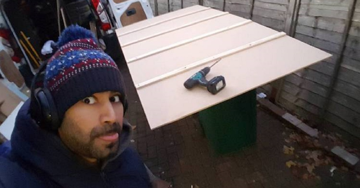 This Guy Built His Wife A HUGE Advent Calendar – With A Different Surprise Behind Every Door!