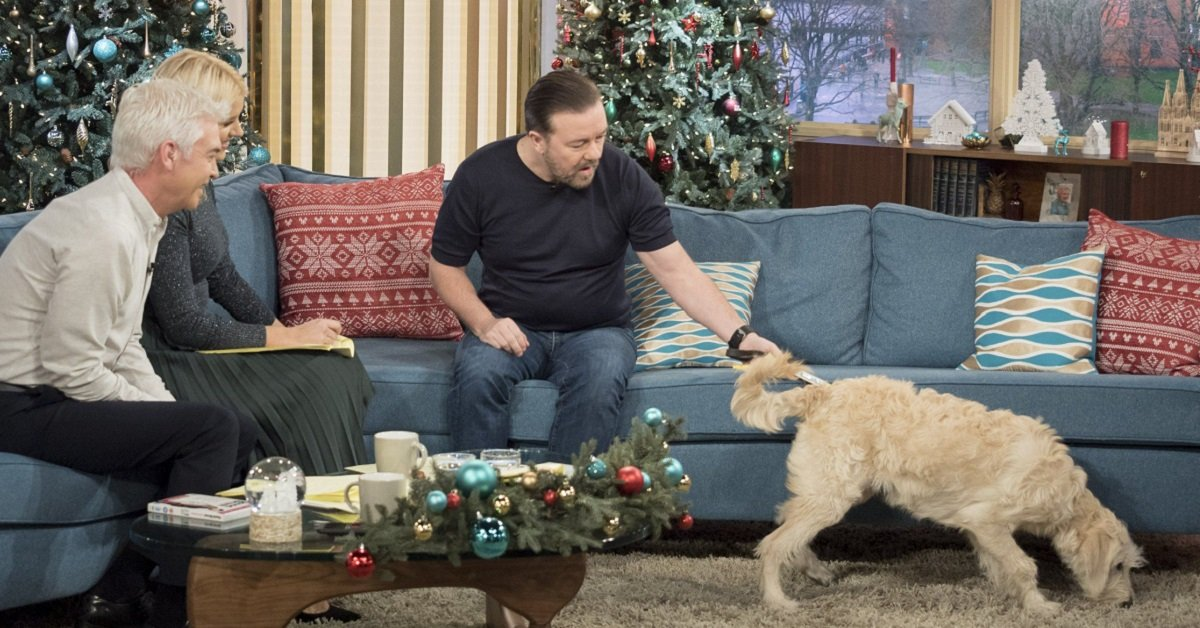Ricky Gervais Got Completely Distracted During An Interview By Luna The 'This Morning' Dog