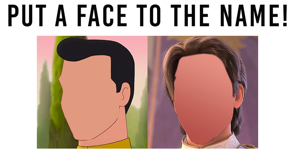 TEST: Can You Recognise These Disney Princes Without Their Faces?