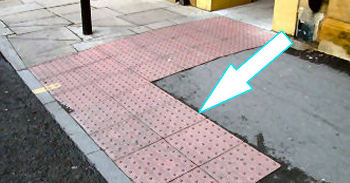 Those Raised Dots On The Pavement Have A Very Useful Purpose