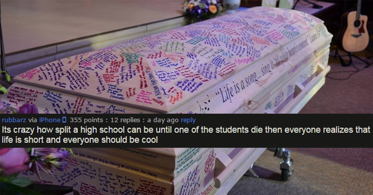 After Girl Loses Battle With Cancer, Students Turn Coffin Into Yearbook Memorial