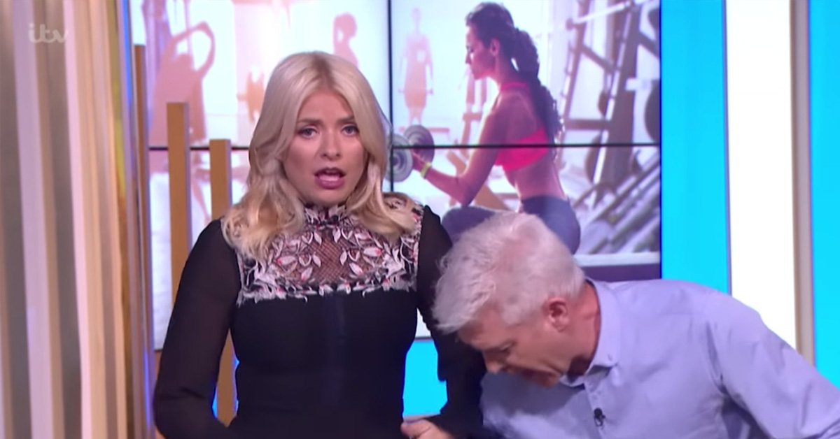 Holly Nearly Wets Herself Live On Air