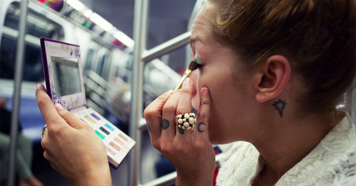 Fellow Passengers Have Perfect Response To Man Telling Woman To Stop Applying Make-Up On Train