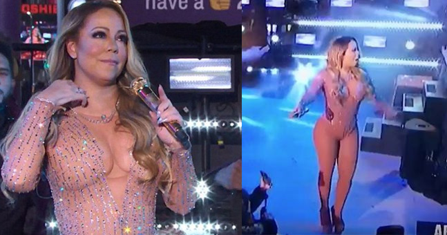 Here Are All The Most Awkward Bits From Mariah Carey's Awful NYE Performance