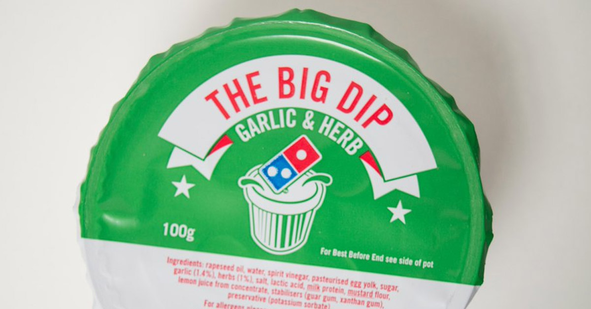 This Fact About Dominos Garlic & Herb Dip May Put You Off It For Life