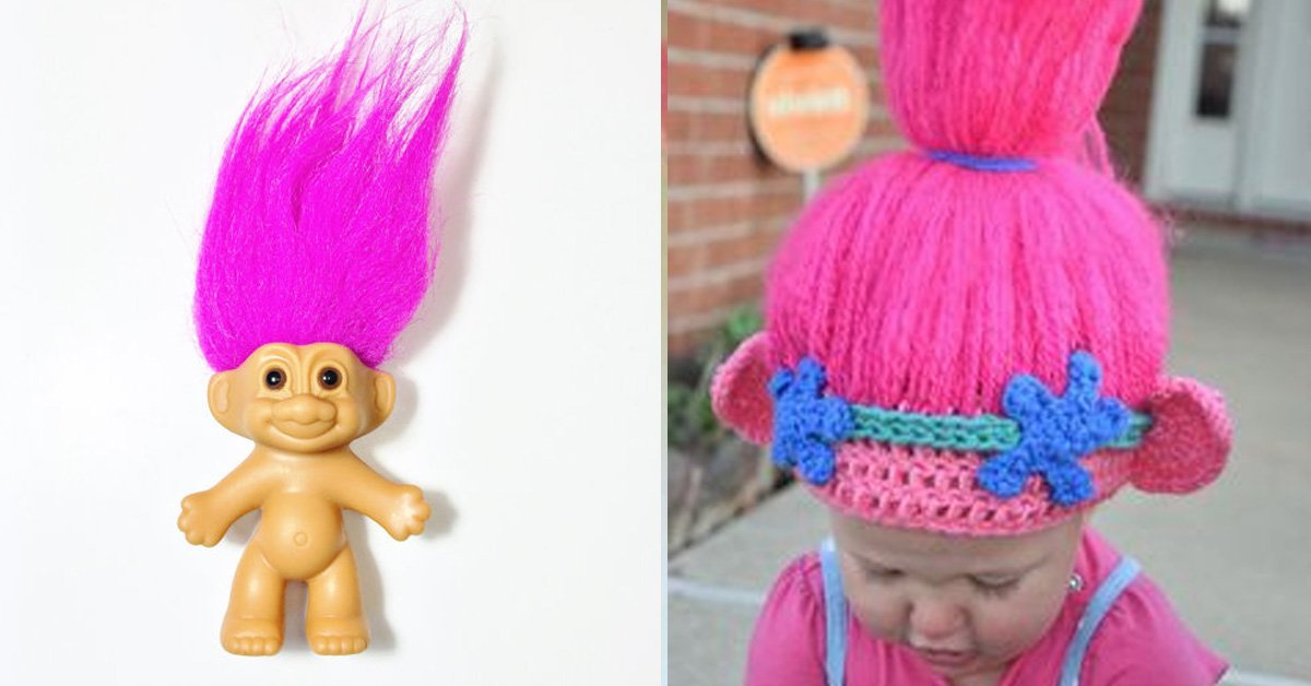 Pattern Adorable Crochet Trolls Hat Pattern