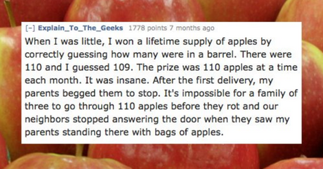 20 Stories Showing The Reality Of Winning A Lifetime Supply Contest