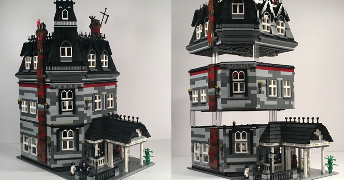 Introducing The New Addams Family Lego Mansion Set