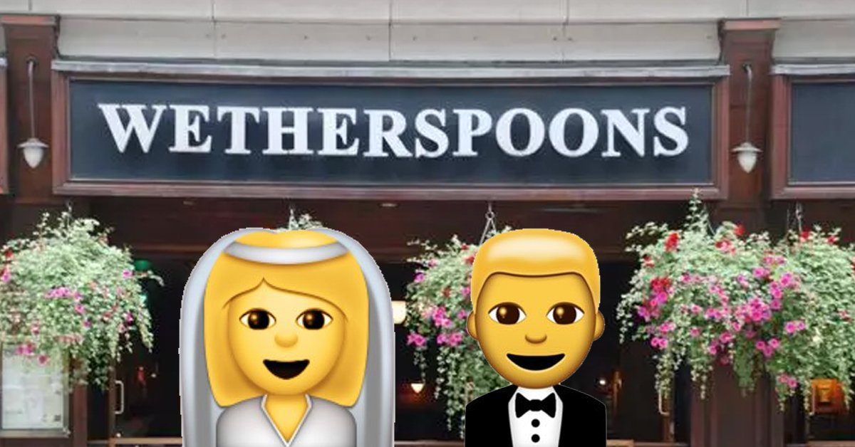 Wetherspoons Are Offering An All Inclusive Wedding Package And Its Cheap As Chips
