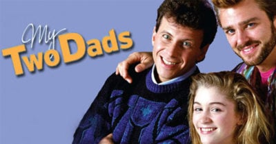 A publicity poster for My Two Dads