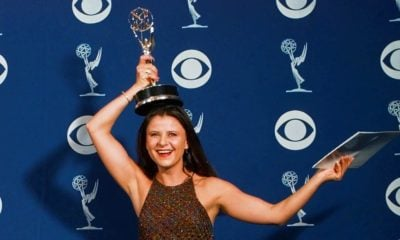 Tracey Ullman with her Emmy Award