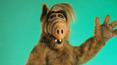 Alf waving to the camera