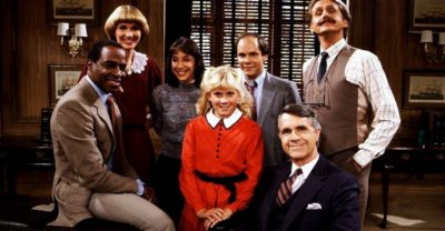 The main cast members of Benson