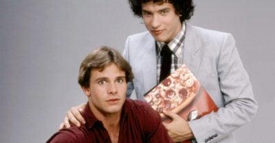 Tom Hanks and Peter Scolari in Bosom Buddies