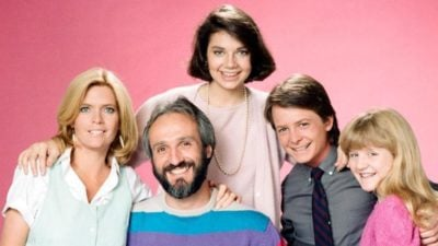 The cast members of Family Ties