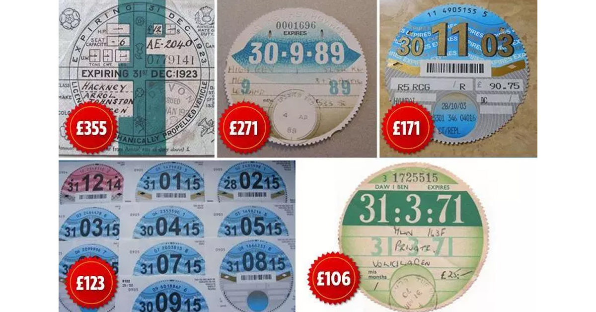 Is Your Old Car Tax Disk Worth Money? Some are Selling on eBay for £300!