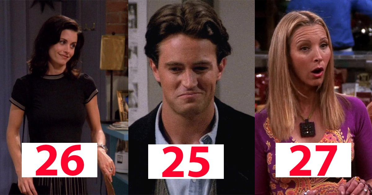 The Real Ages Of The Friends Stars & Their On-Screen Characters