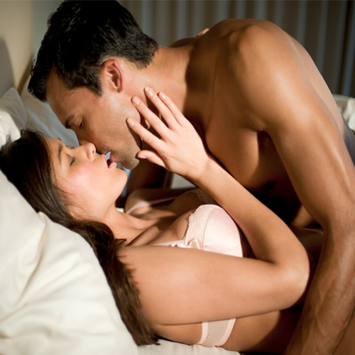 Sexy romantic kissing