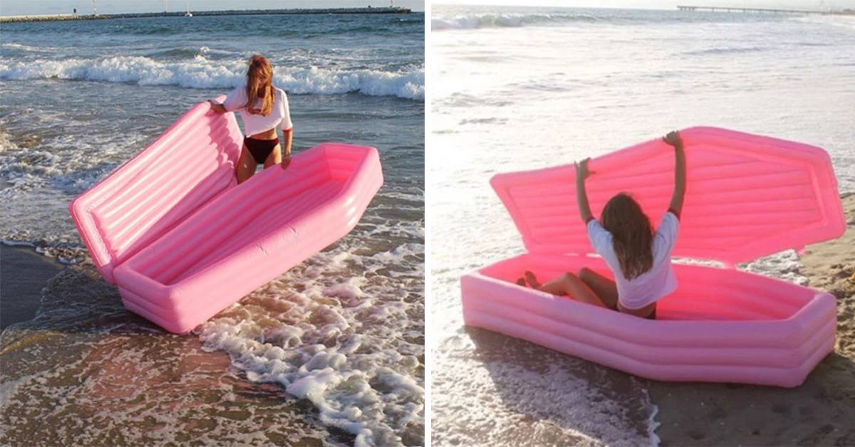 Apparently Pink Coffins Are The Next Pool Inflatable Craze