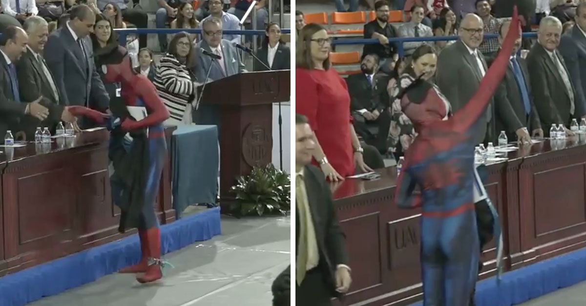 Law Student Decides To Dress Up As Spiderman To Collect Diploma And Massively Splits Opinions