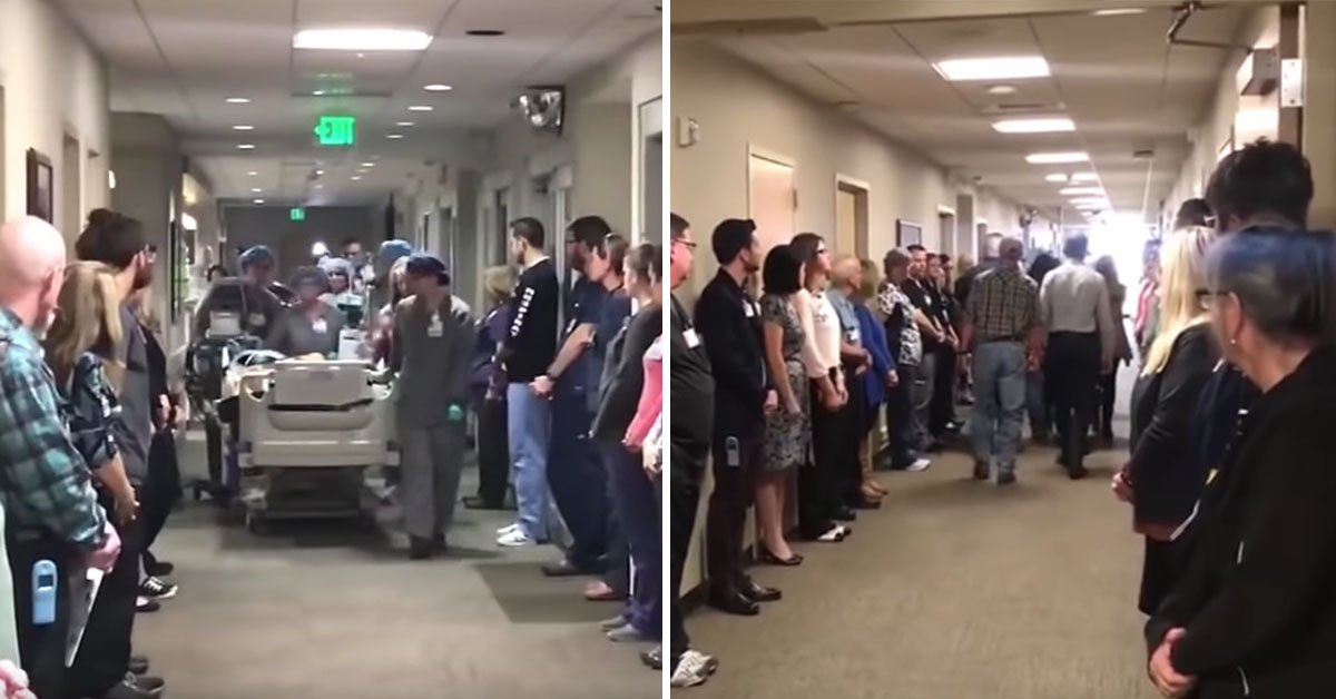 Staff At Hospital Line Up In Honour Of A Dying Man's Final Moments Before Donating His Organs