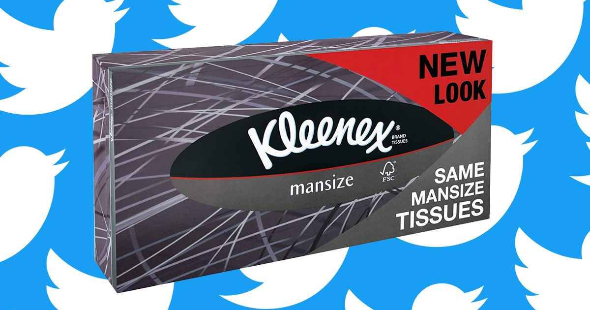 kleenex will rename their mansize tissues after twitter users