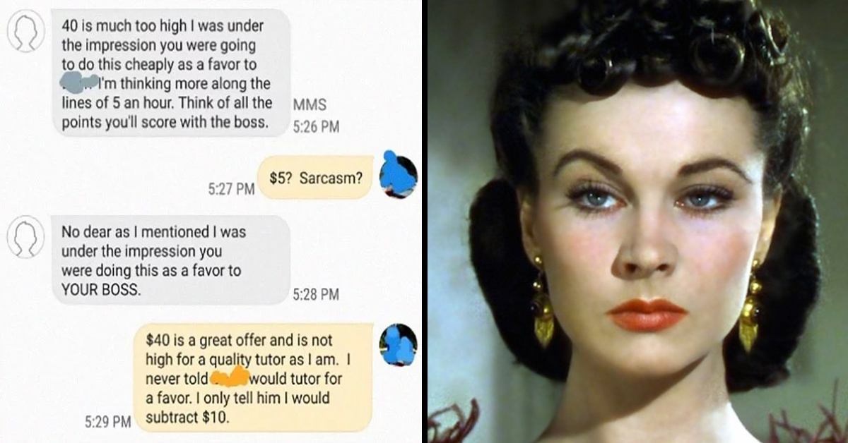 Woman Rudely Demands That A Language Teacher Tutor Her Daughter For Just $5 And It's Infuriating The Internet