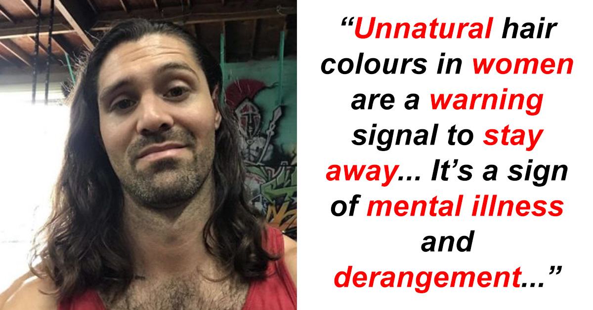 "Woman's Amazing Response To Man Who Said ""Stay Away From Women With 'Unnatural' Dyed Hair"""