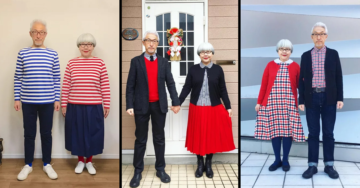 This Adorable Japanese Couple Wear Matching Outfits Every Single Day
