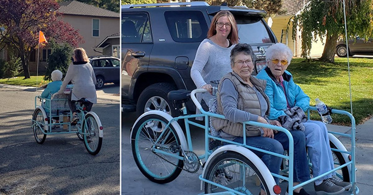 Thoughtful Family Build Incredible 'Blessing Bike' For Grandmother's 92nd Birthday