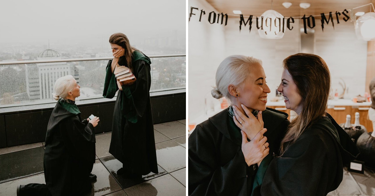 This Harry Potter-Themed Proposal Is So Magical That Even JK Rowling Got Involved
