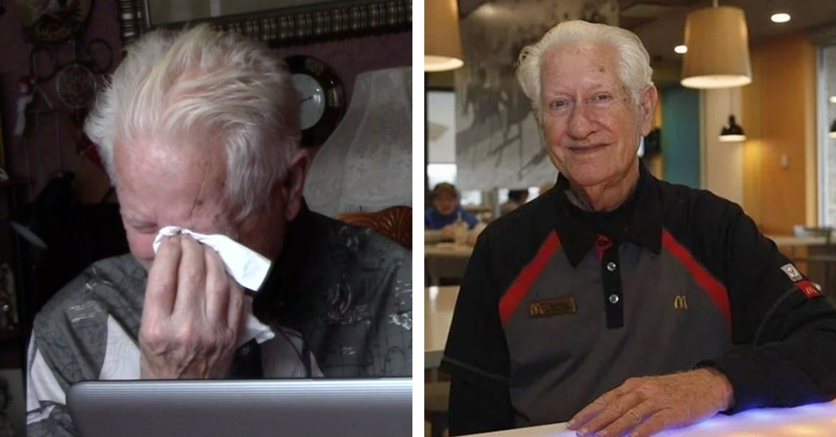 85-Year-Old McDonald's Employee Receives Over $115,000 From Kind Strangers After Wife Passes Away Inside Restaurant