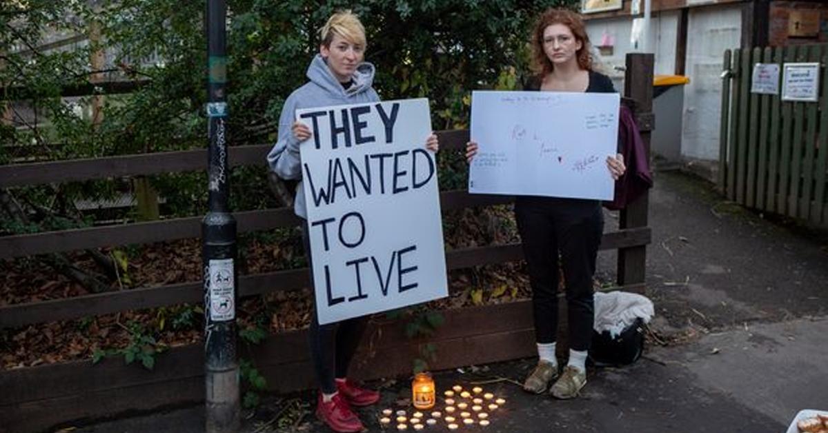 Vegan Activists Hold A Candlelit Vigil For 9 Turkeys Slaughtered For Christmas